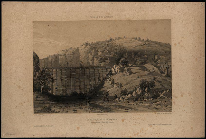 Pont et aqueduc de M. Marchand - Ravine à Marquet - Quartier de la Possession