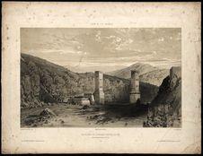 Les piliers de la grande ravine en 1837 - Entre les Trois bassins et St Leu