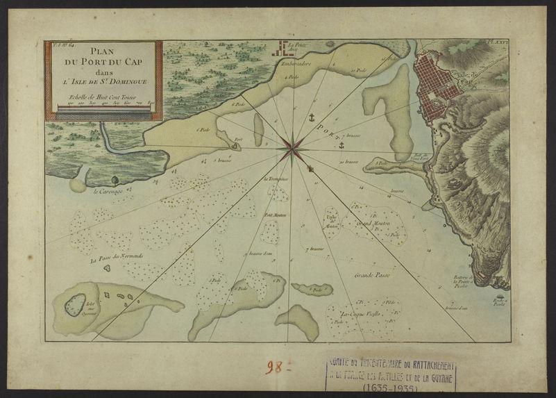 Plan du Port du Cap dans l'isle de St. Domingue