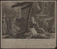 Paul prie sur la tombe de Virginie