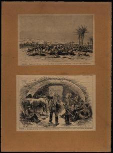 Vue générale de Kérouan, la ville sainte de la Tunisie - Les citernes de...