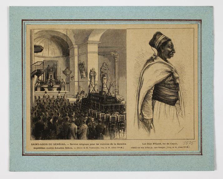 Service religieux pour les victimes de la dernière expédition contre Amadou Sekou - Lat Dior N'Goné, roi de Cayor, rétabli sur son trône par nos troupes