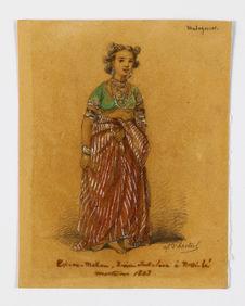 Portrait de la reine sakalava Tsiomeko