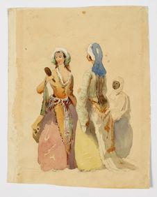 Deux femmes et leur servante