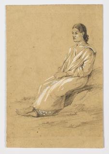 Maïti, jeune femme au chignon