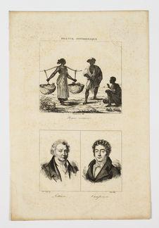 Planche gravée avec esclaves, Lethière et Campenon
