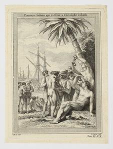 Premiers Indiens qui s'offrent à Christophe Colomb