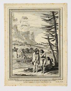 Habitans du Détroit de Magellan, nommés Patagons ; leurs barques, leurs...