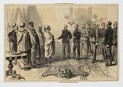Sans titre [Algérie - Réception par le Général De Flogny de l'Ambassade...