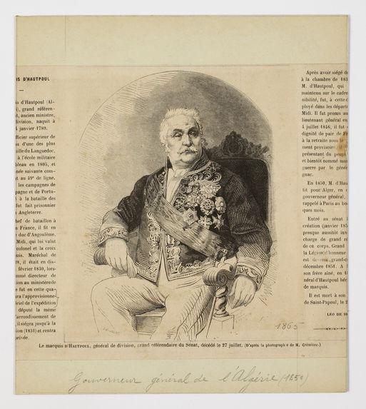Le marquis d'Hautpoul, général de division, grand référendaire du Sénat, décédé le 27 juillet