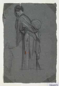 Arabe portant un fardeau sur l'épaule gauche