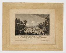 Vue de la cataracte de Cohoes, sur la rivière des Mohawks dans l'Amérique...