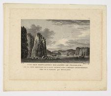 Vue des montagnes escarpées de Fraisler, sur la côte orientale de la baye George...