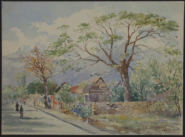 Une rue de Port-Louis, Ile Maurice
