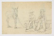 Thomas Savedra et Joseph Yoloper, plus un âne