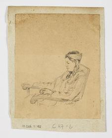 Maïoti, buste de femme au bandeau