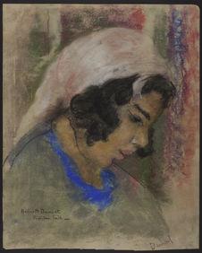 Portrait de femme tunisienne, Sidi Bou Saïd