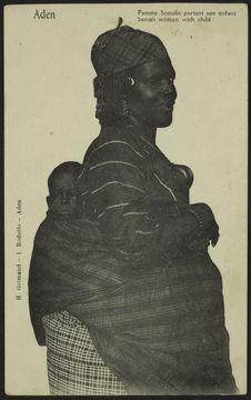Femme Somalis portant son enfant