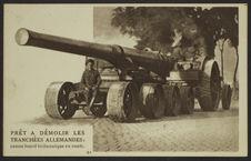 Prêt à démolir les tranchées allemandes