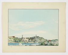 Rade de Nouméa en 1903 - Presqu'île de l'Artillerie