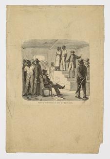 Vente d'esclaves dans le Sud des Etats-Unis