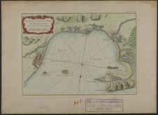 Plan de la rade et ville du petit Goave dans l'Isle St Domingue