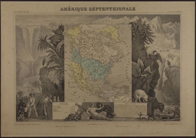 Carte de l'Amérique Septentrionale
