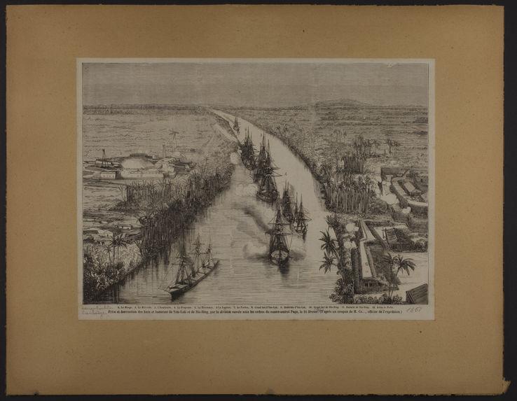 Prise et destruction des forts et batteries de Yen-Lok et de Sin-Bing, par la division navale sous les ordres du contre-amiral Page