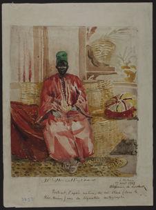 Portrait d'après nature du roi Dina (dans le Rio Nunez)