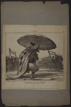 Un parasol dans une position difficile
