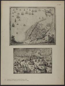 Attaque de Tripoli par le maréchal d'Estrées (1685) - Bombardement d'Alger par...