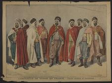 L'Empereur de Russie en France - Chefs arabes et tunisiens