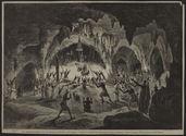 Une cérémonie religieuse dans les grottes du Préa-Teuk (Indo-Chine)