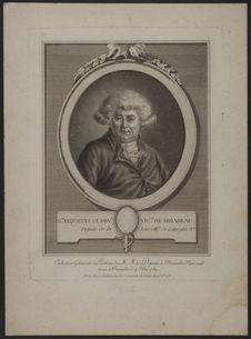 G.re Riquetti ci dev.t vic.te de Mirabeau, Député de la Senéch.ée de Limoges...