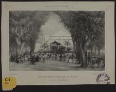 Exposition des produits de l'agriculture et de l'industrie au Jardin de l'Etat,...