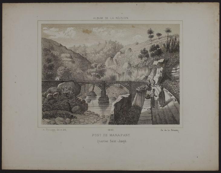 Pont de Manapany. Quartier Saint-Joseph