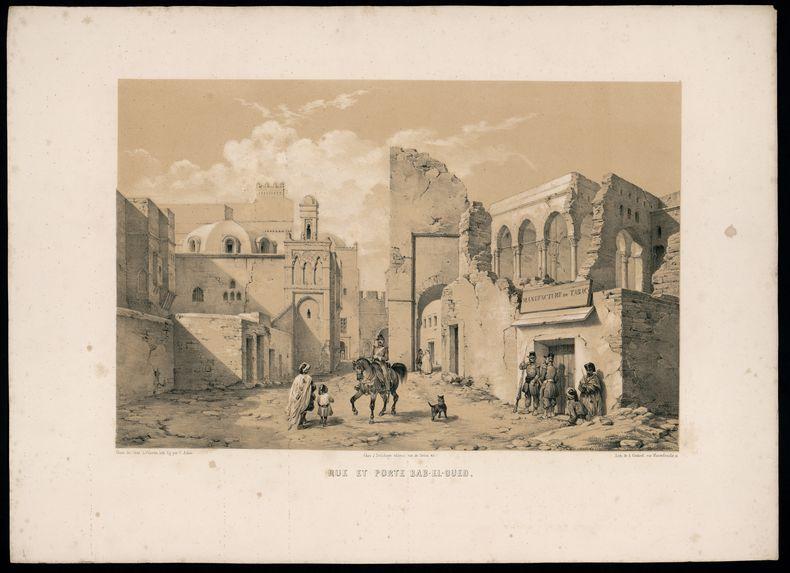 Rue et porte de Bab-El-Oued