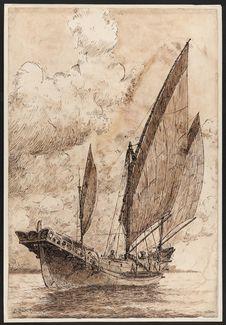 Sans titre [Jonque de pêche indochinoise]