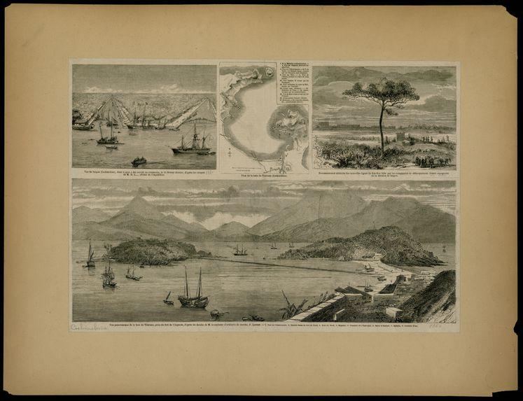 Vue panoramique de la baie de Tourane, prise du fort de l'Aiguade
