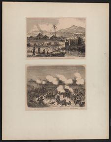 Un avant-poste français sur la rivière de Vinh-Luong (Cochinchine) - Attaque des...