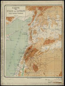 Carte des Etats du Levant sous mandat français