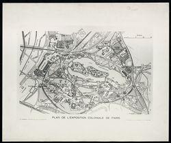 Plan de l'exposition coloniale de Paris