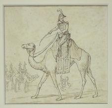Sans titre [Cavalier de l'armée d'Egypte ou Silhouette de l'armée d'Egypte]