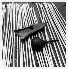 Pygmées Babinga Babenzelé. Instrument de musique