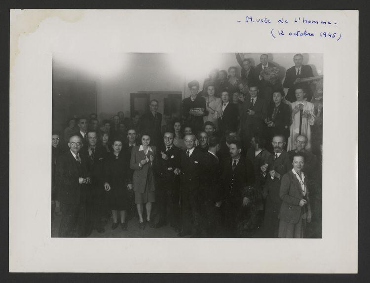 Musée de l'Homme, 12 octobre 1945