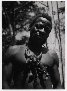 Mopéta, le chef pygmée du campement Bangombé