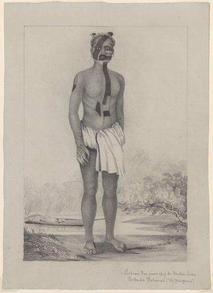 Portrait d'un jeune chef de Nuku-Hiva, Tribu des Tohioas