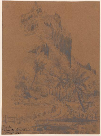Bora Bora depuis les environs de la maison du régent