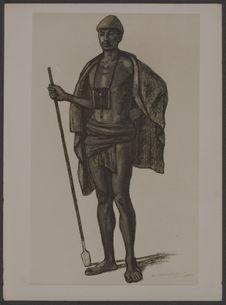 Type Antandroy [portrait d'homme], reproduction d'un tableau de Lièvre