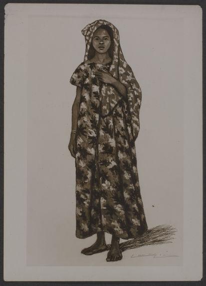 Type Antankarama [femme], reproduction d'un tableau de Lièvre